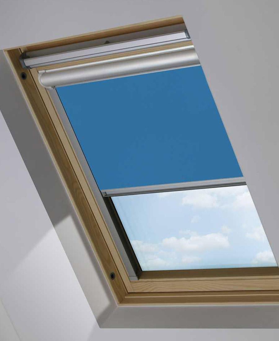 Blue Skylight Window Blind