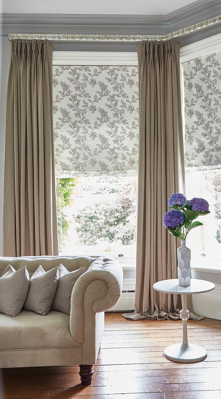 Glade Natural Roman Blind Oslo Hemp Curtains