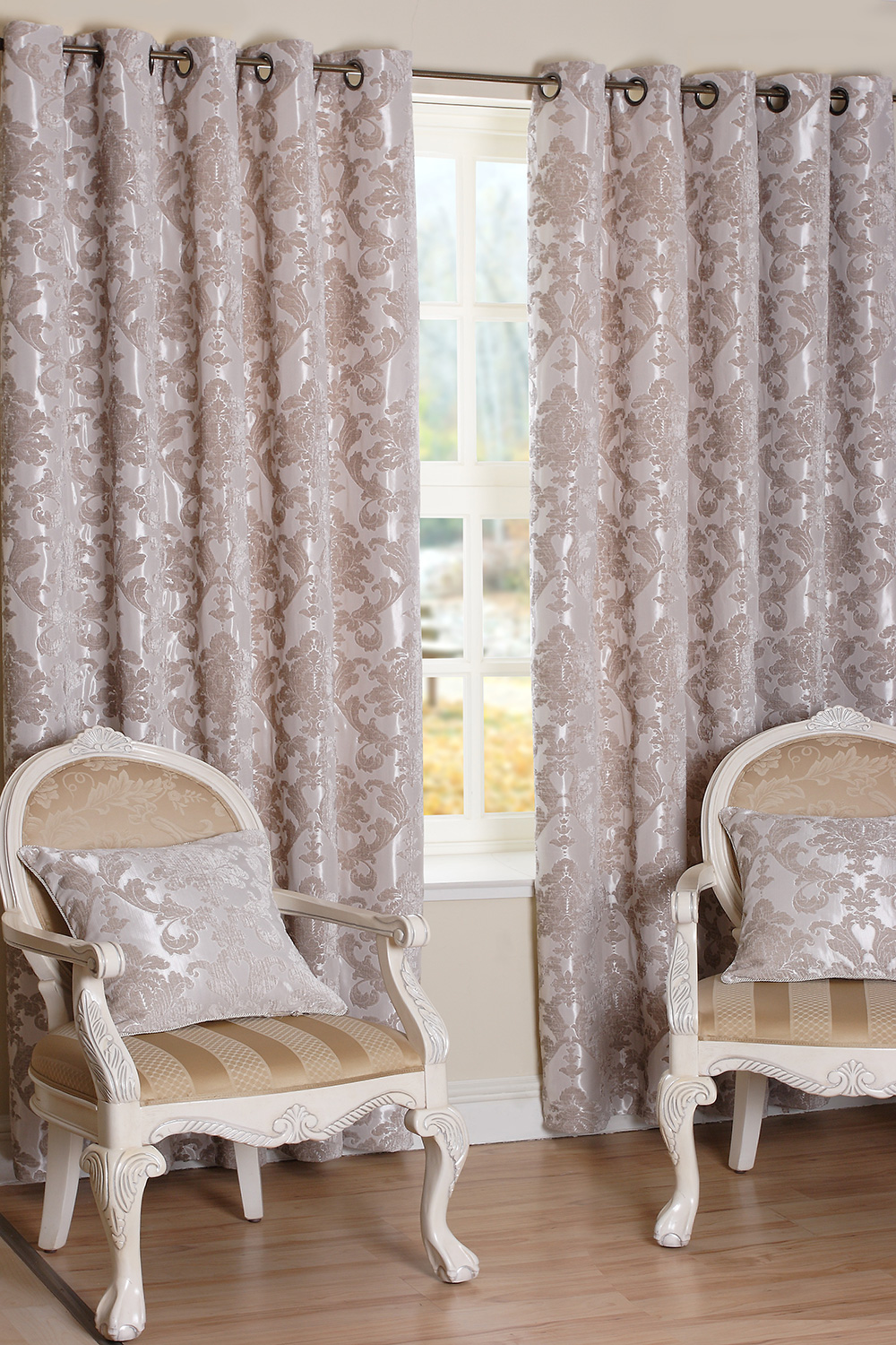 Parklane Taupe Ready Made Curtains