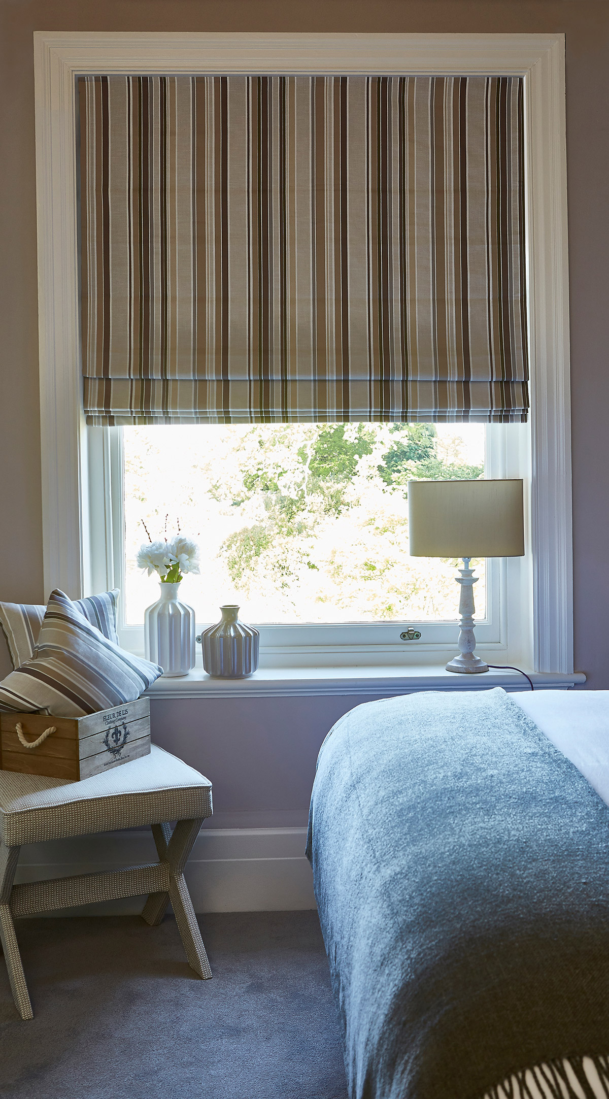 Sidmouth Parchment Roman Blind from SLX