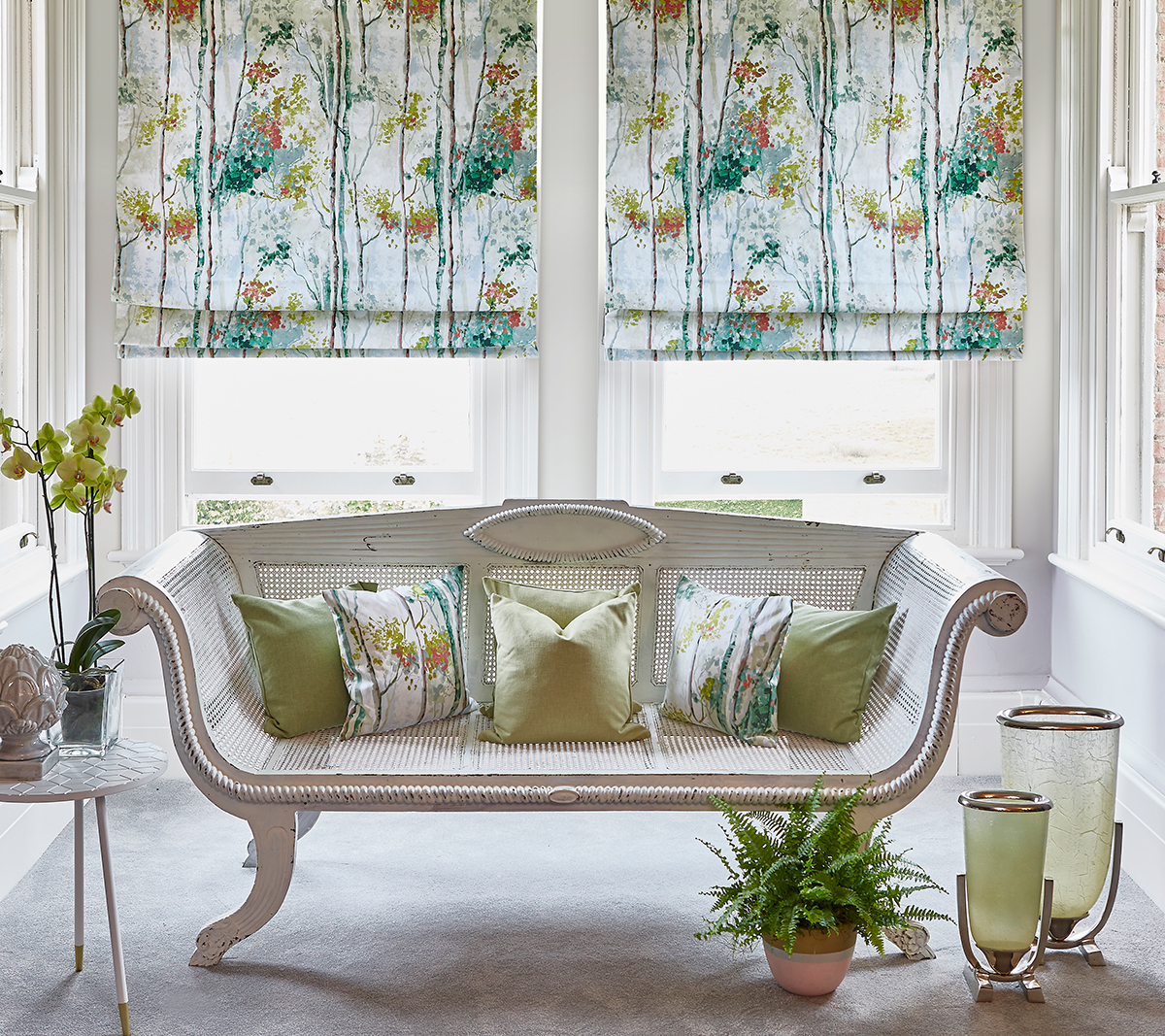 Silver Birch Willow Roman Blinds from SLX