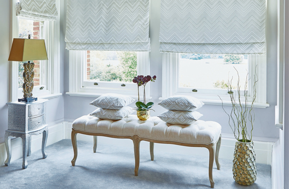 SLX Blackout Roman Blinds - Apache Oyster